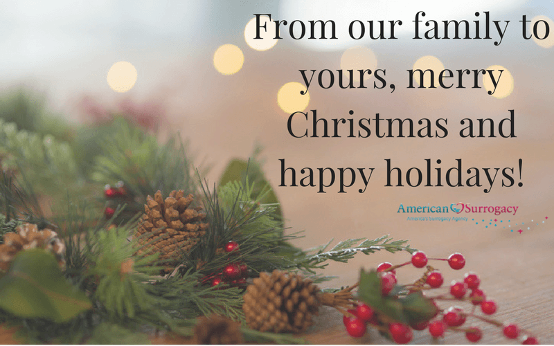 Happy Holidays from American Surrogacy!